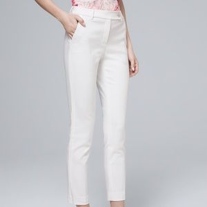 WHBM - white straight crop - worn once